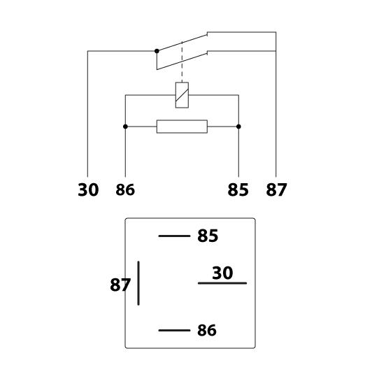 Schema electrique et detail position broches