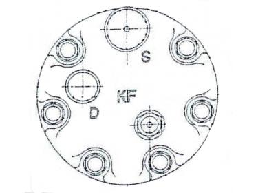 Compresseur Sanden Fixe R134a SD7H15 TYPE : SD7H15   8142555   32073 - 40450058 - 7834 - C8807388A