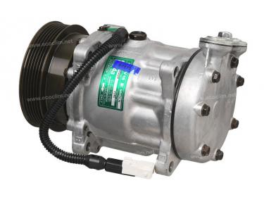 Compresseur Sanden Variable SD7V16 TYPE : SD7V16 | 6453AX - 6453Z4 - 71723460 | 1141 - 1209 - 32186G - 68507 - 699106 - 920.20139 - CNK175 - TSP0155248