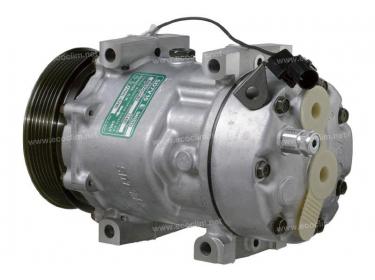 Compresseur Sanden Variable SD7V16 TYPE : SD7V16   30805511 - 7700116286 - 7700872159   1142 - 6208 - 699166 - CP27002