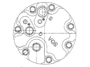 Compresseur Sanden Variable SD7V16 TYPE : SD7V16   1J0820803F - 1J0820803K   1215 - 1233 - 1278 - 32206 - C8807461A