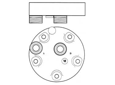 Compresseur Sanden Fixe R134a SD5H14 TYPE : SD5H14 | 016224378 - 4130-01-622-4378 - 4130016224378 | 1201567 - 20-10090 - 4521 - 5800052 - 6632