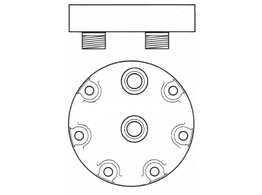 Compresseur Sanden Fixe R134a SD7H15 TYPE : SD7H15   001103234 - 3550921M91 - 6005016248 - 85817170 - 87556183 - A7010647   7851 - 78569 - C8807206A - CP002-1 - CP00533