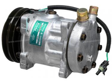 Compresseur Sanden Fixe R134a SD7H15 TYPE : SD7H15   11007314 - 123/04999 - 12304999   20-11517 - 78579 - 7860 - 8069 - 8163 - C8807465A - CP060 / CP080