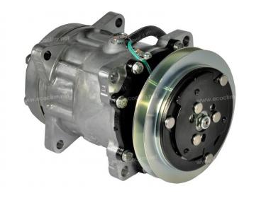 Compresseur Sanden Fixe R134a SD7H15 TYPE : SD7H15 | 76047005 - 98462948 - LW170TC | 40450035 - 7948 - 920.20009 - C8807277A - CP002 / CP083