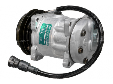 Compresseur Sanden Fixe R134a SD7H15 TYPE : SD7H15 | 1251063 - 1264800 - 1444295 - 1638737 | 7856 - 8051 - 8127 - 8182 - C8807379A - CP55108