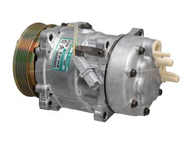 Compresseur Sanden Variable SD7V16 TYPE : SD7V16   6453JN - 6453JQ - 6453LQ - 6453LR - 9639109580 - 9646416780   1228 - 1240 - 1800 - 1836 - 1852 - 68153 - 699772 - C8807435A - CP07006 - TSP0156020M
