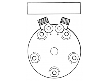 Compresseur Sanden Fixe R134a SD5H14 TYPE : SD5H14 | 015550508 - 4120-01-555-0508 - 4120015550508 | 20-10183 - 32799G - 4507 - 509-436 - 5800029 - 5801 - 6627 - 6665 - C8807283A