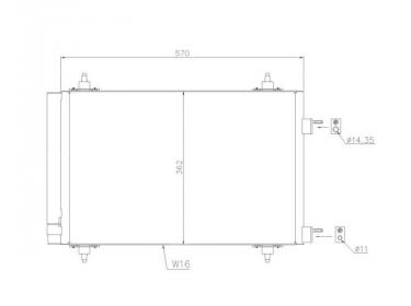 Echangeur Condenseur OEM   6455CY - 6455EW - 6455GK   35611 - 43195 - 8FC351317571 - 94758 - AC668000P - CN5230D