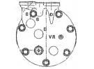 Compresseur Sanden Variable SD7V12 TYPE : SD7V12 | 6453N1 | 1201864 - 1500 - 1502 - 40405084 - 58602 - 699026 - 7402094 - 920.20053 - C8807339A - CP07017