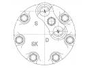 Compresseur Sanden Fixe R134a SD7H15 TYPE : SD7H15 | 6453P5 | 58600 - 699023 - 7402097 - 7870 - CP076002 - SD7870