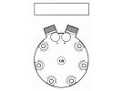 Compresseur Sanden Fixe R134a SD7H15 TYPE : SD7H15   60540609   699009 - 7418 - C8807296A