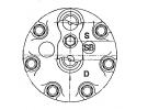 Compresseur Sanden Fixe R12 SD709 TYPE : SD709 | 7700861779 | 675252 - 699118 - 7728 - 8FK351119001