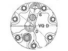 Compresseur Sanden Variable SD7V16 TYPE : SD7V16 | 1H0820803D - W01H0820803D | 1100 - 1162 - 1201599 - 40450054 - 6213 - 68592 - 7402104 - 920.20024 - C8807297A - CP26591 - TSP0155058 - TSP0155058/052K