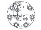 Compresseur Sanden Fixe R134a SD7H15 TYPE : SD7H15   7700868578   57658 - 699089 - 7861