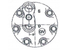 Compresseur Sanden Fixe R12 SD709 TYPE : SD709 | 7700856241 | 58606 - 699034 - 7605