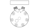Compresseur Sanden Fixe R134a SD7H15 TYPE : SD7H15 | 11007314 - 123/04999 - 12304999 | 78579 - 7860 - 8069 - 8163 - C8807465A - CP060 / CP080