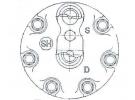 Compresseur Sanden Fixe R134a SD7H15 TYPE : SD7H15 | | 7912