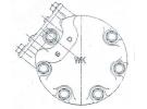 Compresseur Sanden Fixe R134a SD7H15 TYPE : SD7H15 | 1376998 | 1201349 - 40450078 - 6024 - 7980 - 8067 - C8807362A