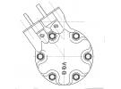 Compresseur Sanden Variable SD6V12 TYPE : SD6V12 | 7700111235 | 1417 - 1417E - 699191 - 8KK351127411 - C8807357A - CP18018 - RTK080
