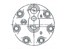 Compresseur Sanden Fixe R134a SD7H15 TYPE : SD7H15 | 4130-99-676-4983 - 4130996764983 - 5001858486 - 5010412961 - 5010483099 - 996764983 | 8093 - 8093E - C8807432A - CP55106