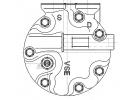 Compresseur Sanden Variable SD7V16 TYPE : SD7V16 | JPB101230 | 1201452 - 1220 - 32173 - 699315 - 920.20124 - AUK172 - CP19005 - TSP0155175