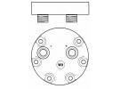Compresseur Sanden Fixe R134a SD7H15 TYPE : SD7H15 | 9704118 | 4617 - 4646 - 5800012 - 7877 - 8019 - 8125