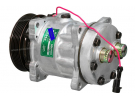 Compresseur Sanden Fixe R134a SD7H15 TYPE : SD7H15 | 6453T0 | 508839 - 5800004 - 7908 - C8807375A