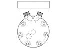 Compresseur Sanden Fixe R134a SD7H15 TYPE : SD7H15 | 078112 - 110073145 - 15272892 - 4130-99-287-1844 - 4130992871844 - 508417 - 8150135 - 992871844 | 40405075 - 7808 - 7824 - 7866 - 8061 - 8239