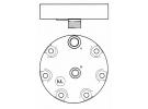 Compresseur Sanden Fixe R134a SD7H15 TYPE : SD7H15 | 001.300.582.1 - 0013005821 - 04437339 - 0443733910 - 060506146 - 84018077 - 84018078 - 89-64678 - 89831429 | 1201543 - 700001803 - 78553 - 7862 - 8023 - 8181 - 8227 - CP00553 - CP044 / CP050