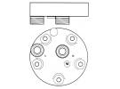 Compresseur Sanden Fixe R134a SD5H14 TYPE : SD5H14 | 016133750 - 322333200 - 3405689R2 - 4130-01-613-3750 - 4130016133750 - 80450805 - 89508380 | 40405014 - 4513 - 5800050 - 6631 - C8807233 - CP049