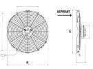 Ventilateur Aspirant 24V SPAL - Ø = 385 - EPAIS = 86 | | 1209040 - 30102621 - VA18-BP1-41MA - VA18-BP70/LL-86A