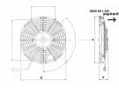 Ventilateur Aspirant 12V SPAL - Ø = 280 - EPAIS = 52 | 320822600 - ER380912 | 1209006 - 30100364 - 30315001 - 9.1014 - VA09-AP8/C-27A