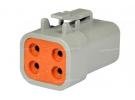 Composant électrique Connecteur DEUTSCH Connecteur FEMELLE 4 VOIES DTP06-4S |  |