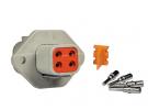 Composant électrique Connecteur DEUTSCH Kit 4 VOIES FLASQUE DTP04-4P |  |
