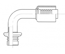Raccord A sertir alu flexible standard Springlock MALE SPRINGLOCK