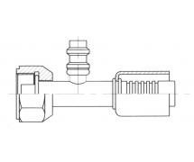 Raccord A sertir alu flexible standard Droit FEMELLE ORING PP R134a
