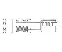 Raccord A sertir alu flexible standard Droit MALE ORING PASSE CLOISON