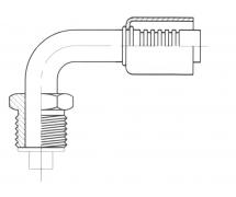 Raccord A sertir acier diamètre réduit 90° MALE ORING
