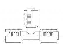 Raccord A sertir acier diamètre réduit TE TE
