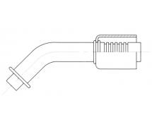 Fitting Steel reduced diameter fittings 45° ORING BRIDE