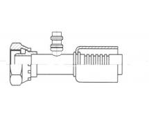 Raccord A sertir acier diamètre réduit Droit FEMELLE ORING 1'' + PP R134a