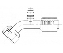 Raccord A sertir acier diamètre réduit 45° FEMELLE ORING PP R134a