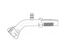 Raccord Réutilisable 45° FEMELLE ORING 1'' + PP R134a