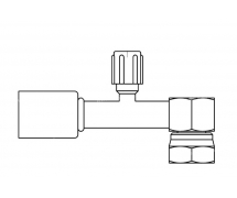 Raccord A sertir acier diamètre réduit 90° FEMELLE ORING 1'' + PP R134a