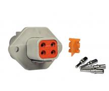 Composant électrique Connecteur DEUTSCH Kit 4 VOIES FLASQUE DTP04-4P