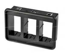 Electric component Switch Carling Technologies BLOC 3 INTERRUPTEURS CONTURA 5