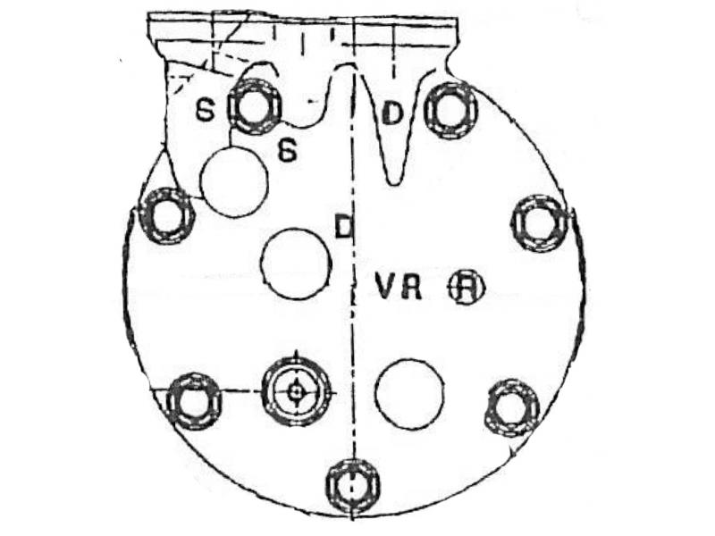 Compresseur Sanden Variable SD7V16 TYPE : SD7V16 | 7700272497 | 1135 - 1201652 - 699039 - 8FK351227451 - C8807374A - RTK284 - TSP0155115