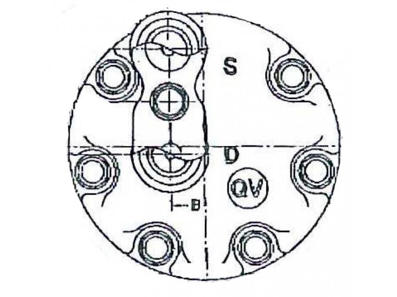 Compresseur Sanden Fixe R134a SD7H15 TYPE : SD7H15 | 7700108413 | 58627 - 8010 - C8807454A - CP185002