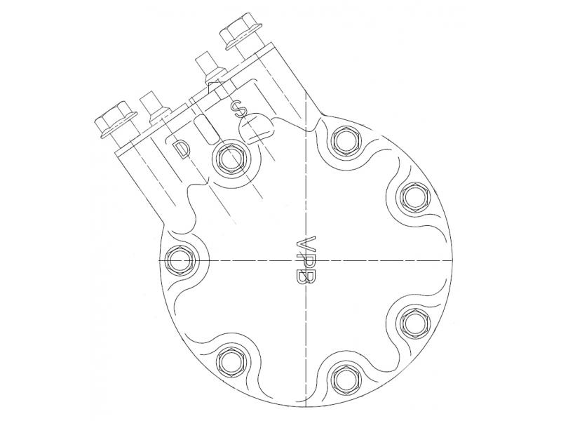 Compresseur Sanden Variable SD7V16 TYPE : SD7V16 | 7700100417 | 1.1211 - 1150 - 1201645 - 67511 - 699107 - C8807342A